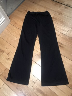 90s flares stretchy fabric black elastic ages waist joggers casual 12