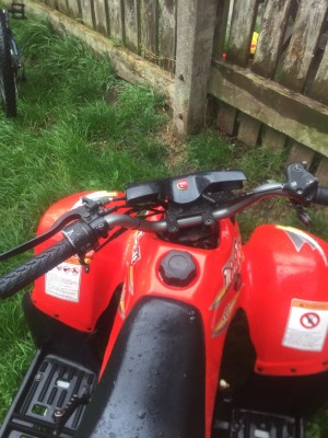 50cc electric and kick start quad