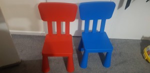 ikea chairs blue and red kids chair