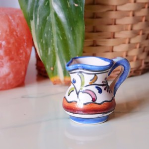 Vintage Hand Painted Floral Small Decorative Jug