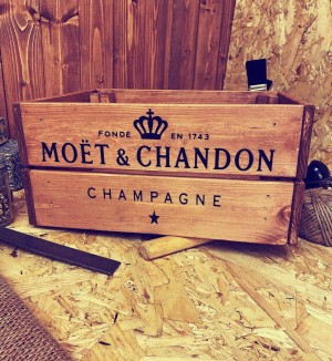 Moet & Chandon Champagne crate