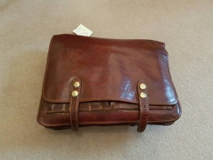 brand new italian leather laptop bag
