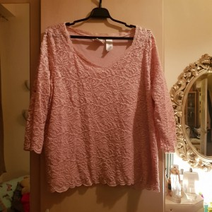 Emma James Pink Lace Top Size 18