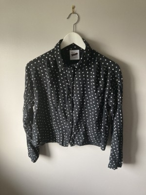 George black with stars cropped shirt uk10