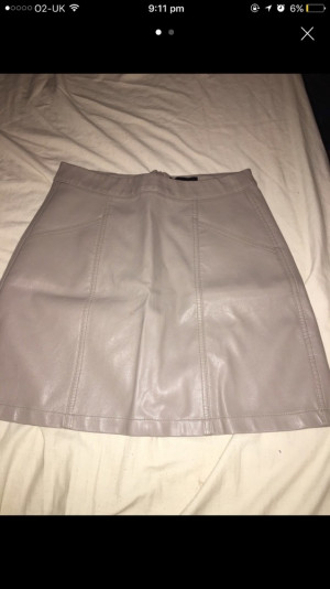 Leather skirt// new look bought for £24// worn once// size 10