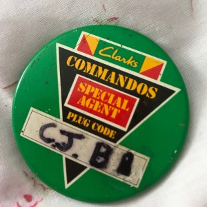 Clarks Pin badge