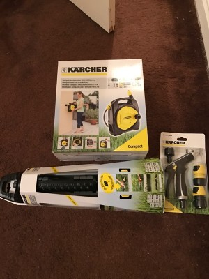 Karcher garden hose, sprinkler and gun