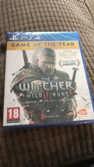 PS4 game Witcher brand new still in still never been used