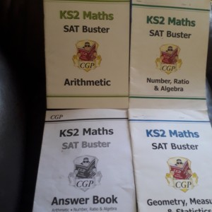 KS2 SAT books for Maths and English