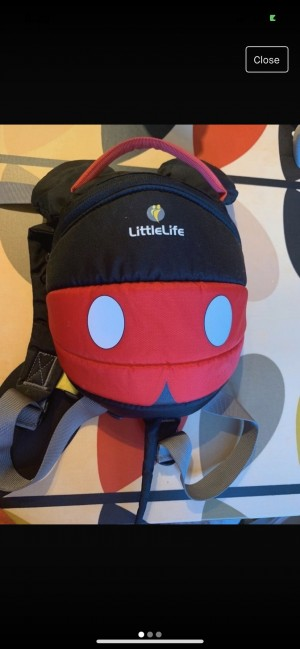 Brand new limited edition Mickey Mouse littlelife backpack reins bag