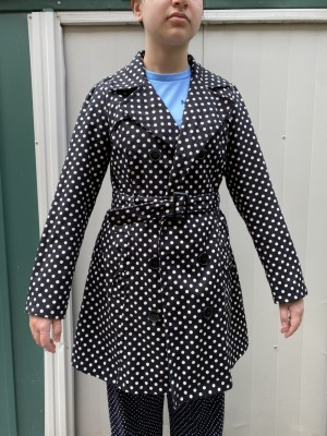Polka Trench Coat