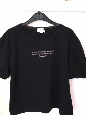 Mean girls quoted T shirt black from skinny dip