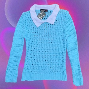 Pastel blue knitted jumper