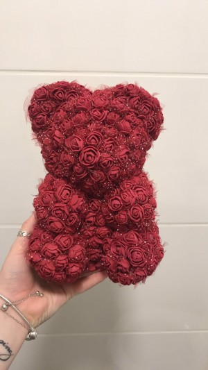 Beautiful wine red Rose Bear!