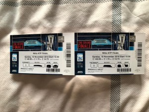 2 tickets to Nitto ATP world tour Finals 2018. Doubles and singles. At 02 Sunday 18th Nov 2018.