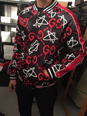 Gucci Star Ghost G Symbol Bomber Jacket