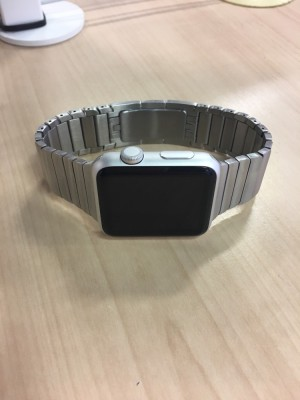 Apple Watch 42mm with steel and sports band. Mint condition