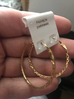 Ladies new gold colour fashion hoops