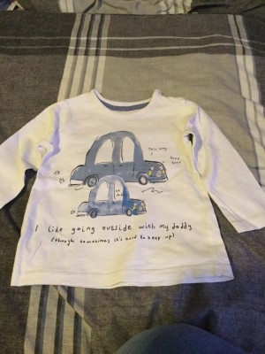 Baby Boys Long Sleeved Top - Aged 6-9 Months