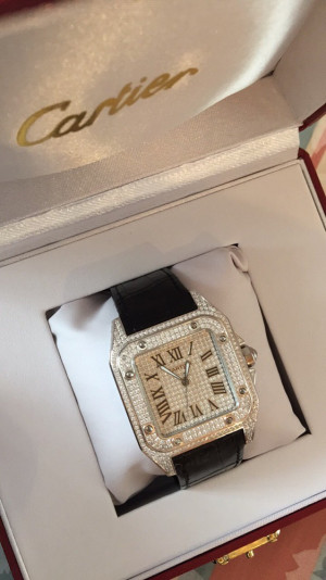 Fully Iced Out Cartier