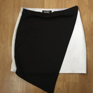 New black & white asymmetric skirt UK 10
