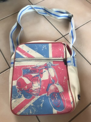 Vespa scooter mod shoulder bag in great condition 32cm by 25cm canvas
