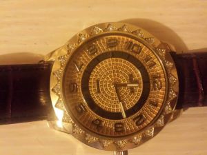 diamond 18ct gold watch