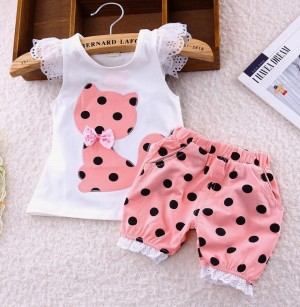 9 month baby girl matching set