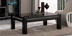 High gloss black prestige diamanté coffee table. Size H 127cm D 66cm L 43 cm want £150