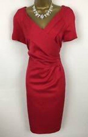 Red midi dress size 8