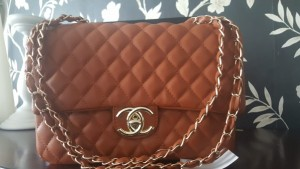 Brown Chanel quilted bag