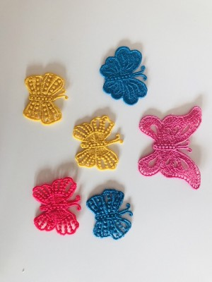 Butterflies patches -lace (homemade)