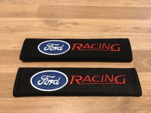 2X Seat Belt Pads Cotton Gift Ford Focus Mondeo Fiesta Kuga ST RS C S