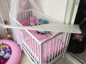 Wot cot bed already dismantled good condition mattress not included few bolts need replacing collection only