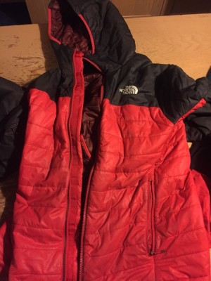 Padded north face jacket