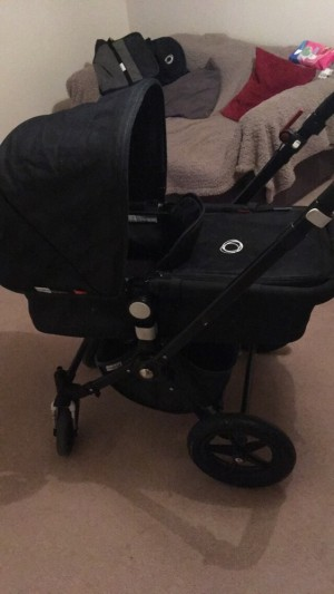 Denim blue Camelon bugaboo pram