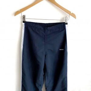 VGC size 10 Reebok tracksuit bottom trousers navy blue gym running