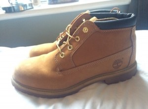 NUDE size 7 timberlands