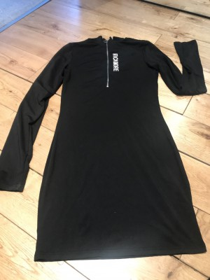 Bodycon 90s dress zip up detail hot hipster worn once 8