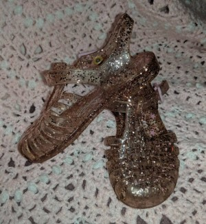 pink glitter jelly sandals infant 6