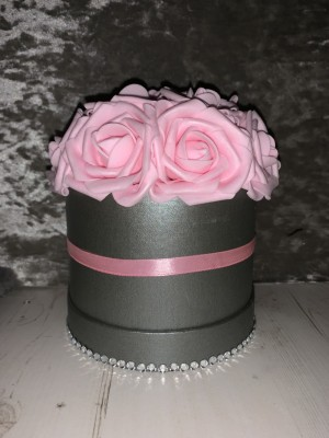 Small Pink Flower Hat Box