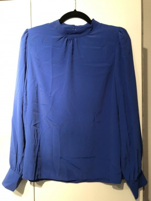 New Look blue, long sleeve, size 12 blouse