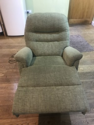 Green Sherborne electric reclining chair