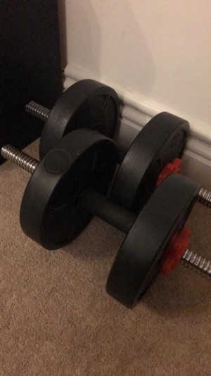 Dumbbells 5kg x2. Approx 10kg total