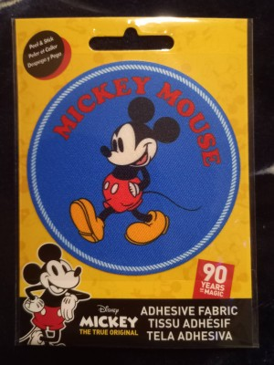 Mickey Mouse Accessory Stick on Iron on Patch