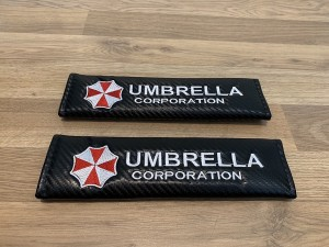 2X Seat Belt Pads Carbon Gifts Umbrella Corp Corporation Audi BMW Hond
