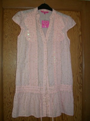 New PINEAPPLE Pale Pink Summer Top/Tunic - Size 8