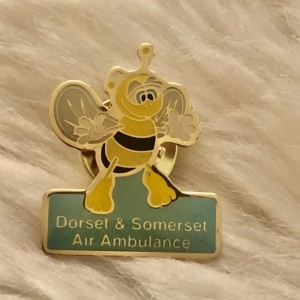 Dorset & Somerset Air Ambulance Bee Swag Style Badges Funky Pin Brooch