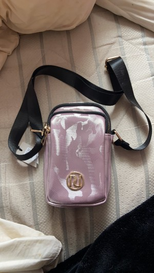 River island pink phone bag