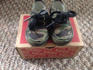 Green Camouflage vans size 2.5